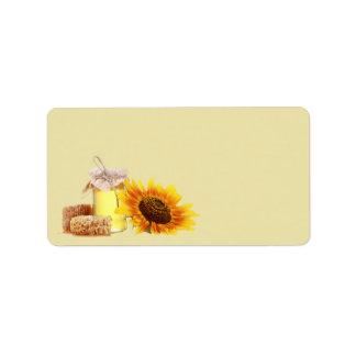 Honey Blank address labels