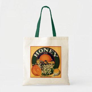 Honey Brand Citrus Crate Label Budget Tote Bag