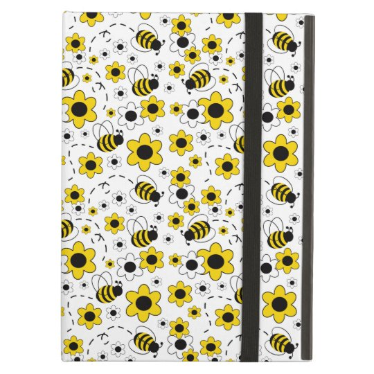 Honey Bumble Bee Bumblebee Girl Yellow Floral iPad
