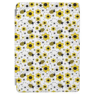 Honey Bumble Bee Bumblebee Girl Yellow Floral iPad Air Cover