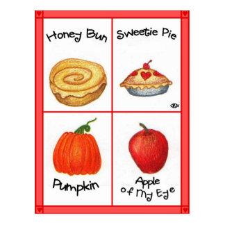 Honey Bun Inspirational Postcard