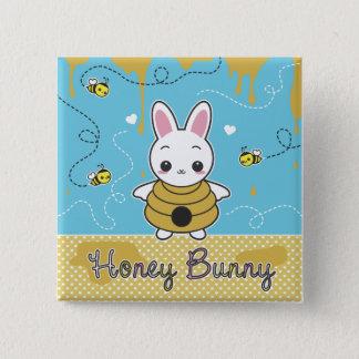 Honey Bunny 15 Cm Square Badge