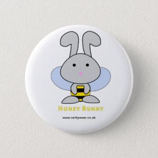 Honey Bunny 6 Cm Round Badge
