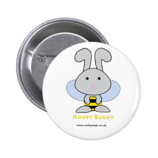 Honey Bunny 6 Cm Round Badge