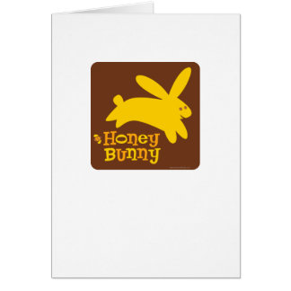 Honey Bunny Greeting Card