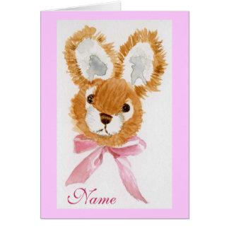 """""""Honey Bunny"""" Happy Birthday! cuddly toy Card"""