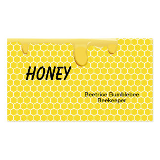 Honey Business Cards for Beekeeping or Apiary