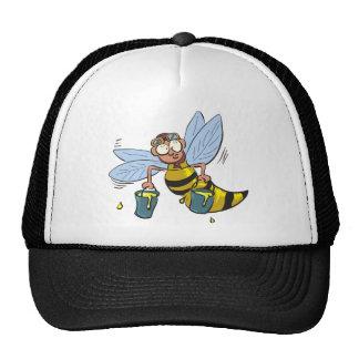Honey cartoon bee trucker hats