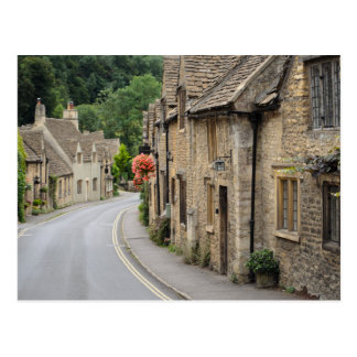 Honey coloured cottages in the Cotswolds postcard