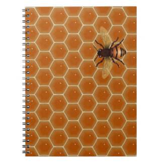 Honey Comb and Bee Spiral Notebook
