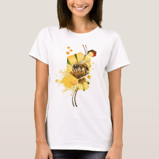 Honey comb bee yellow  flower T-Shirt