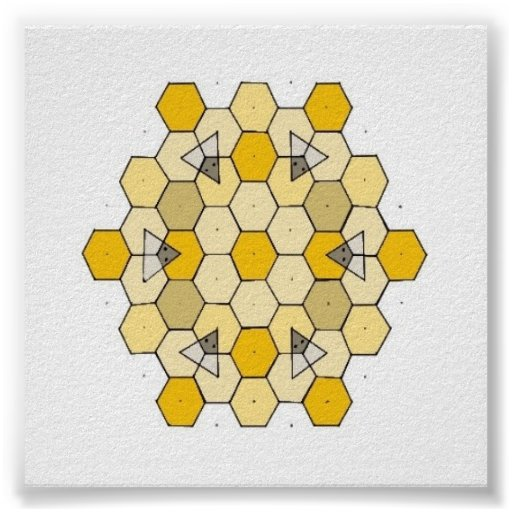 Honey Comb Rangoli Poster