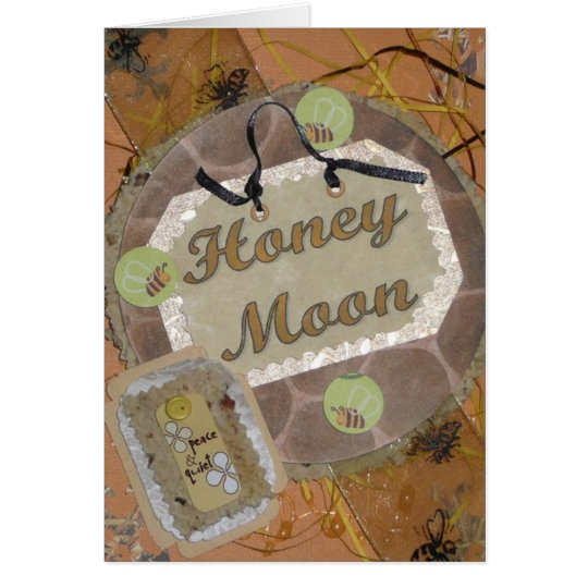 Honey Fairy Moon Greeting Card