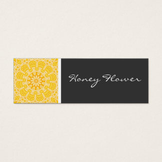 Honey Flower Kaleidoscope Mini Business Card