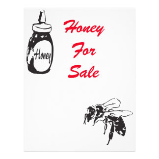 Honey for sale 21.5 cm x 28 cm flyer
