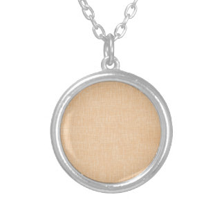 Honey Gold Faux Linen Fabric Textured Background Custom Necklace
