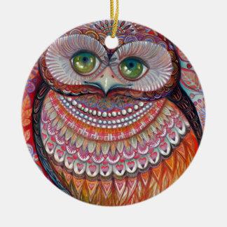 Honey gold owl christmas ornament
