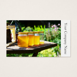 Honey Jars and Honeycomb - Business Card