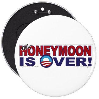 HONEY-MOON-IS-OVER 6 CM ROUND BADGE
