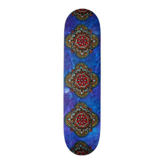 Honey nest - psychedelic bohemian mandala stylish skate board deck