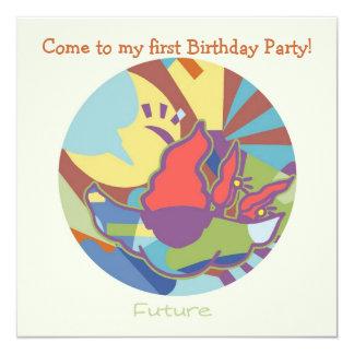 Honey Pie - Future (Boy)  Party invitation card