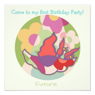 Honey Pie - Future (Girl) Party invitation card