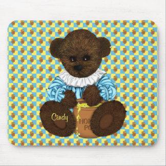 Honey Pot Bear blue-yellow Mousepad