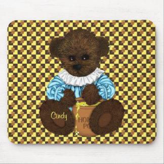 Honey Pot Bear brown-yellow Mousepad