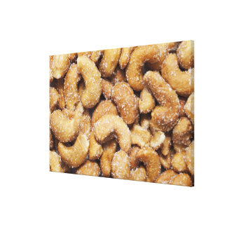 Honey roasted cashew nuts canvas print