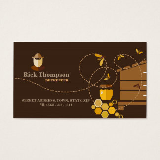 Honey Seller / Beekeeper Bee Seller Shop Farmer Business Card