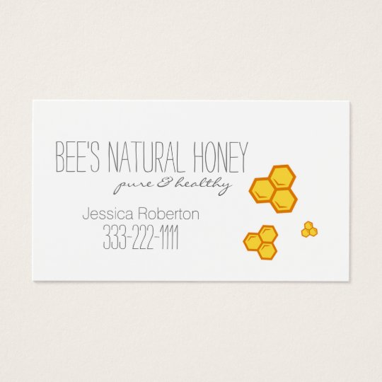 Honey Seller Beekeeper Honeycomb Design Card