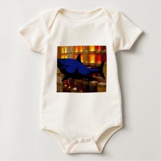 Honey Shark Baby Bodysuit
