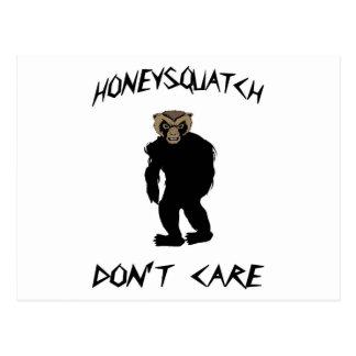 Honey Squatch Don't Care Postcard