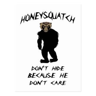 Honey Squatch Don't Hide Postcard
