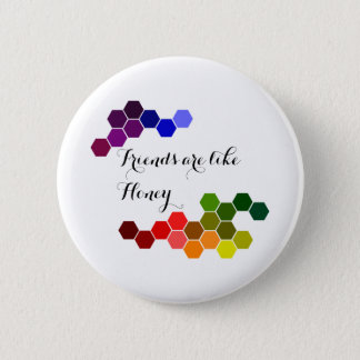 Honey Theme With Positive Words 6 Cm Round Badge