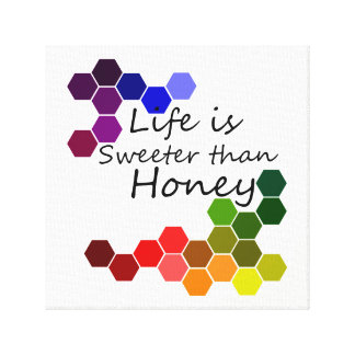 Honey Theme With Positive Words Canvas Print