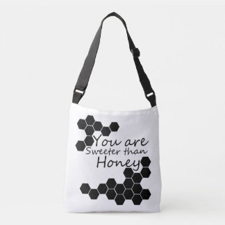 Honey Theme With Positive Words Crossbody Bag