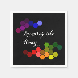 Honey Theme With Positive Words Disposable Serviettes