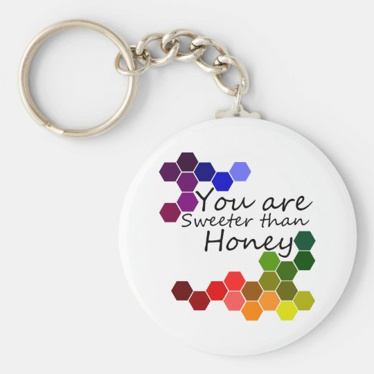 Honey Theme With Positive Words Key Ring