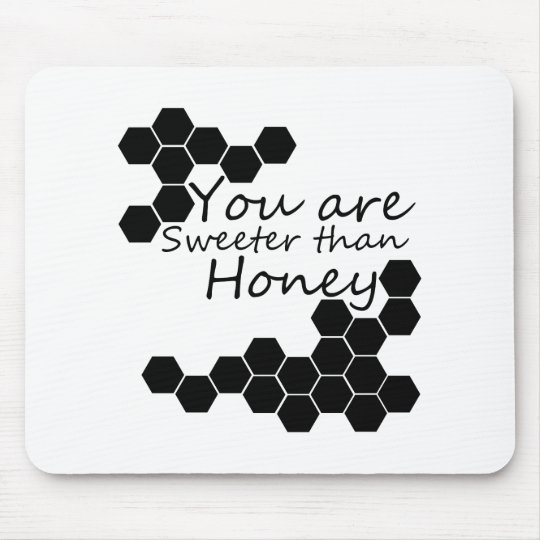 Honey Theme With Positive Words Mouse Mat
