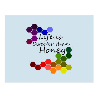 Honey theme With Positive Words Postcard