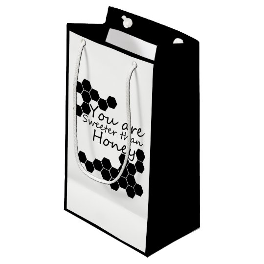 Honey Theme With Positive Words Small Gift Bag