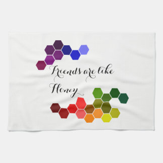 Honey Theme With Positive Words Tea Towel