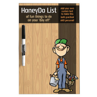 Honey To Do List. Chores board. Customizable Dry Erase Board
