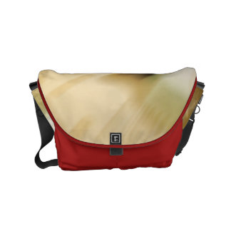Honey toned brown abstract design courier bags