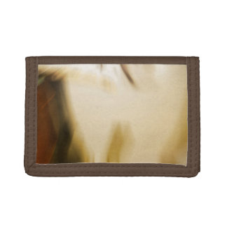 Honey toned brown abstract design tri-fold wallet