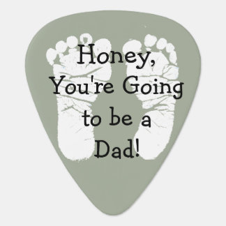 "'Honey, You're Going to be a Dad"" White Footprints Plectrum"