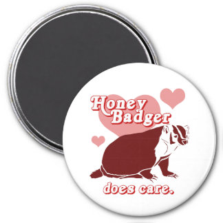 Honeybadger does care 7.5 cm round magnet