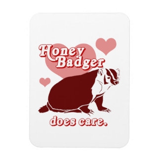 Honeybadger does care rectangular photo magnet