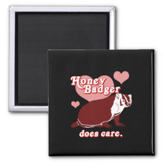 Honeybadger does care square magnet